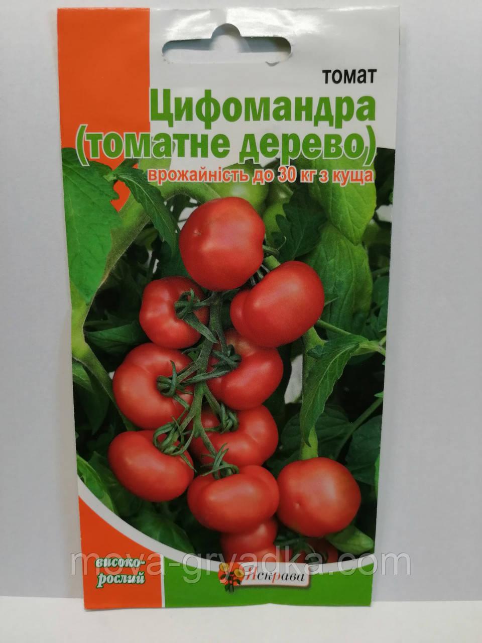 """Насіння томатів Цифомандра 0.1г томатне дерево ТМ""""Яскрава"""""""