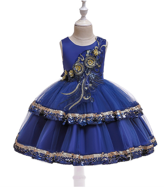Бальна ошатне Сукня з мерехтливої паєтками сінееBall gown Flickering sequin blue dress2021