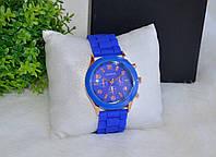 Женские синие часы Geneva (Женева)
