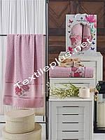 Махровые полотенца  2шт Merzuka Spring бледно розовый, фото 1