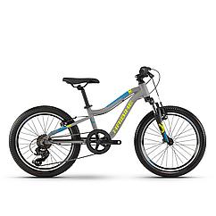 """Велосипед Haibike SEET Greedy 20"""" , рама 26 см,серый/салатовый/голубой,  2020"""