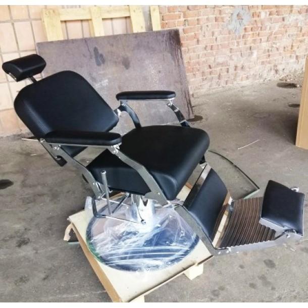 Парикмахерское барбер- кресло для мужчин,с раскладывающейся спинкой,подножкой,подголовником:Лорд-2