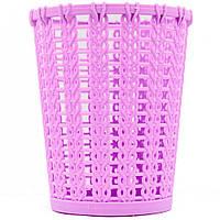 Подставка стакан для кистей, пилочек и маникюрных инструментов RS 02 фиолетовая