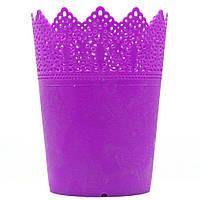 Подставка стакан для кистей, пилочек и маникюрных инструментов RS 03 фиолетовая