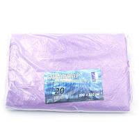Пеньюар перукарський 100 х 150 см, поліетилен, 20 шт, фіолетовий