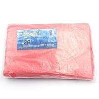 Пеньюар перукарський 100 х 150 см, поліетилен, 20 шт, червоний