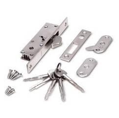 Замок врезной Apecs Simple 72-K-CR с крючкообразным ригелем для профильных дверей