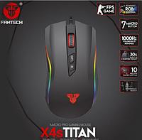 Геймерская мышь / Игровая мышь Fantech X4S Titan Оригинал, цвет Чёрный