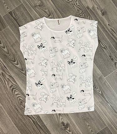 Женская футболка  белая, фото 2
