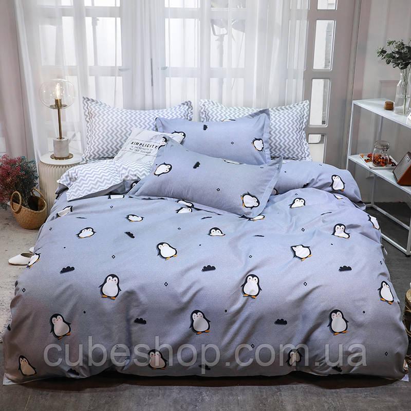 """Комплект постельного белья """"Пингвин"""" (двуспальный-евро)"""