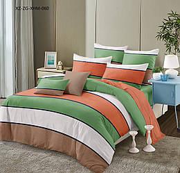 Двуспальный комплект постельного белья «Коралл» 177х217 см из сатина