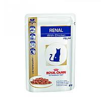 Royal Canin Renal Chicken влажная диета для кошек с хронической почечной недостаточностью, 85 г.