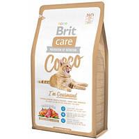 Brit Care Cat Cocco с уткой и лососем для привередливых кошек с чувствительным пищеварением 2 кг