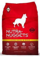 NUTRA NUGGETS Lamb Meal & Rice  1кг корм супер-премиум класса для собак склонных к аллергии