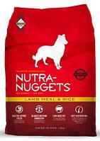 NUTRA NUGGETS Lamb Meal & Rice  15кг корм супер-премиум класса для собак склонных к аллергии