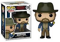 Фигурка Funko Pop Фанко Поп Очень странные дела Шериф Хоппер Stranger Things Hopper 10 см Serial ST H 720