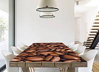 Интерьерная наклейка на стол Зерна кофе (виниловые наклейки на столы мебель кофейные зерна макро, абстракция)