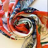 Палантин шелковый 10762-1, павлопосадский палантин шелковый (атласный), размер 65х200, фото 6