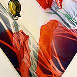 Палантин шелковый 10762-1, павлопосадский палантин шелковый (атласный), размер 65х200, фото 9