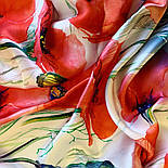Палантин шелковый 10762-1, павлопосадский палантин шелковый (атласный), размер 65х200, фото 5