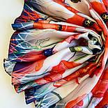 Палантин шелковый 10762-1, павлопосадский палантин шелковый (атласный), размер 65х200, фото 2