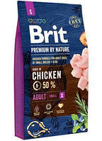 Brit Premium Dog Adult S 3 kg корм супер-премиум класса для маленьких и средних пород собак