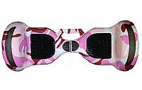 Гіроборд с ручкой, цвет Розовый Камуфляж Smart 10 Balance Wheel, Самобаланс, підсвічув. к/в,1/1шт