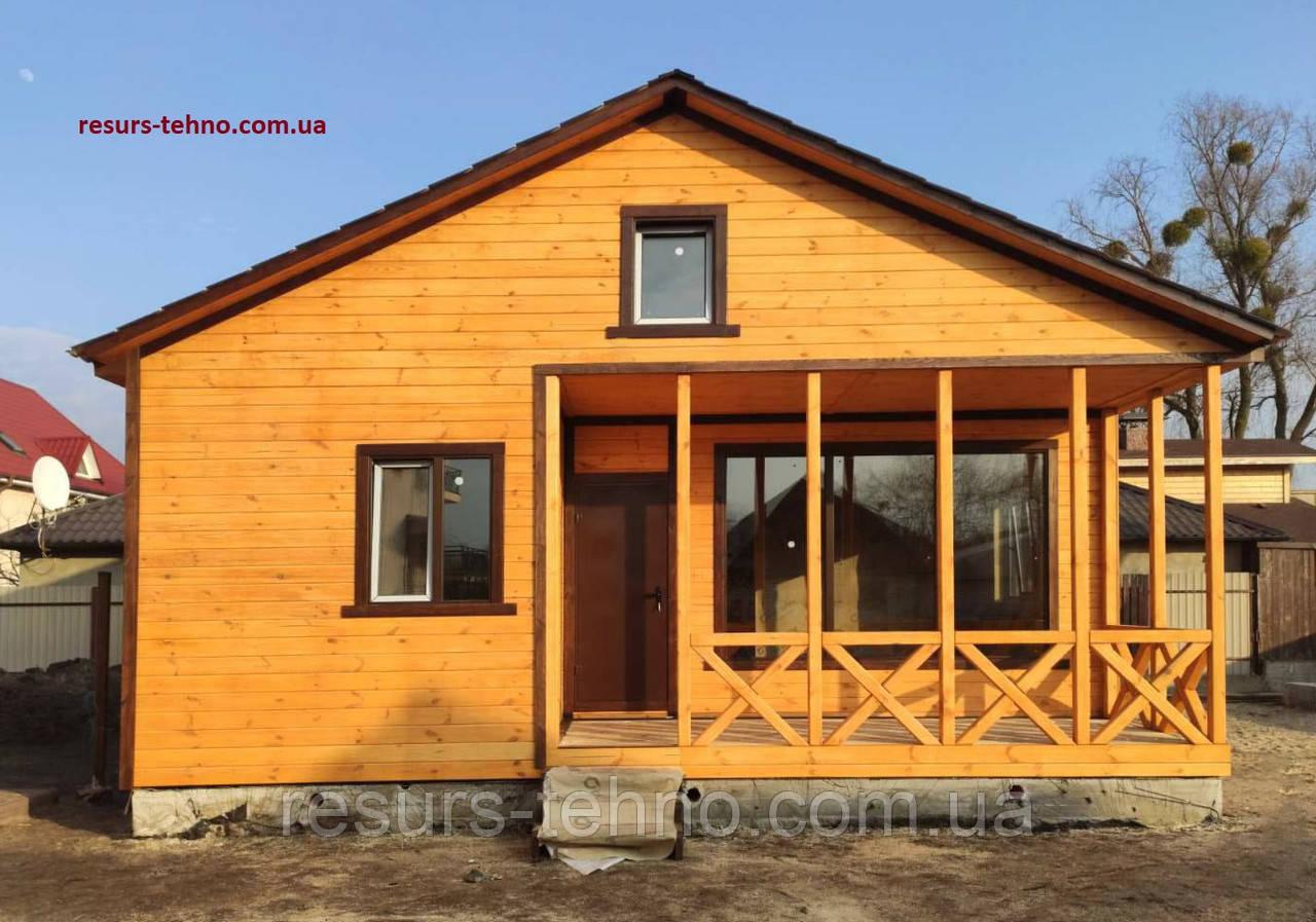 Дачный домик сборный 9,0м х 8,0м с террассой
