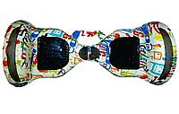 Гіроборд с ручкой, цвет Граффити Smart 10 Balance Wheel, Самобаланс, підсвічув. к/в, 1/1шт