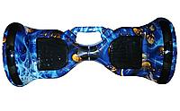 Гіроборд с ручкой, цвет Синий Огонь Smart 10 Balance Wheel, Самобаланс, підсвічув. к/в,1/1шт