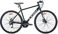 """Велосипед 28"""" Leon HD-80 2020 (черно-белый (м))"""