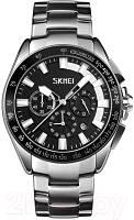 Skmei 9167 черные с белыми вставками мужские классические часы, фото 1