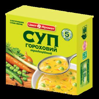 """Суп гороховий """"Традиційний"""" брикет 160 г."""