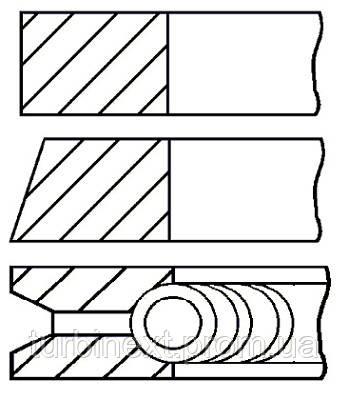 Кольца поршневые RENAULT 75.8 (1.5/1.75/3) 1.2I/1.4 E2F/E5F/E6J/E7F/E7J GOETZE 08-336400-00
