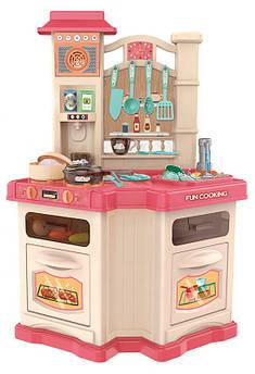 Детская интерактивная кухня Bozhi Toys розовая