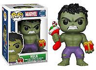 Фигурка Funko Pop Фанко Поп Марвел Праздничный Халк Marvel Holiday Hulk 10 см H H 398