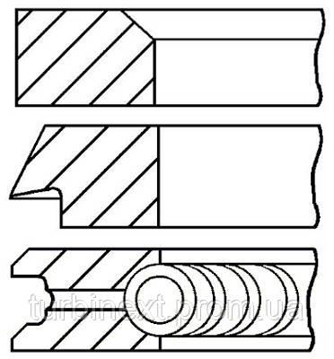 Кольца поршневые FIAT 84.0 (1.5/2/3.947) 1.8I/2.0I 834B GOETZE 08-215300-10