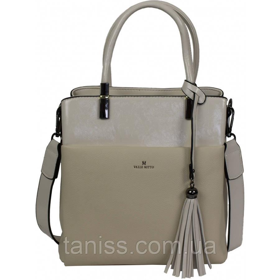 Жіноча,стильна,елегантна сумка,матеріал-екокожа і позов.лак , 2 ручки, 1 довга ручка, 3 відділення (86357-1)