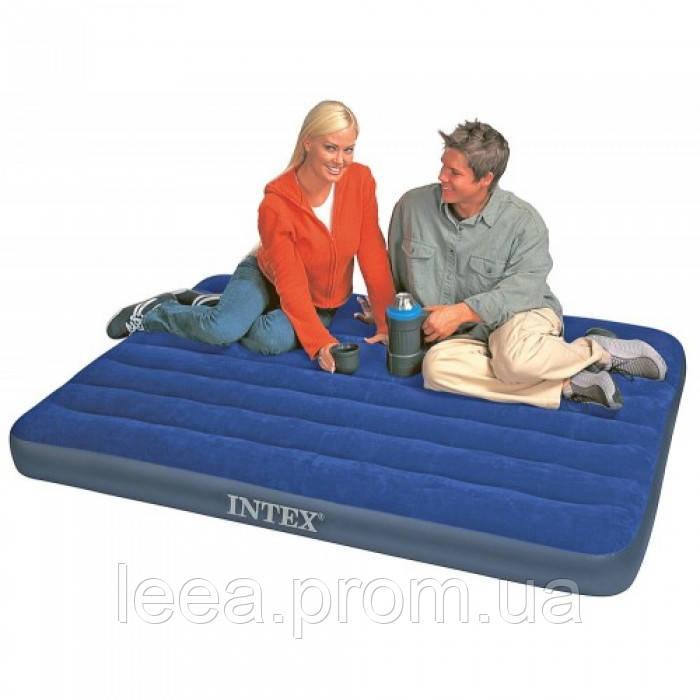 Велюровый двухспальный матрас Intex 64758 191x137x25 см