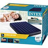 Велюровый двухспальный матрас Intex 64758 191x137x25 см, фото 4