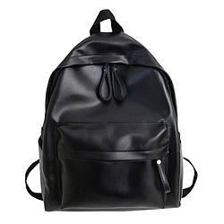 Рюкзак женский черный большой из экокожи.