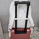 Женский кожаный рюкзак черный большой., фото 6