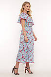 Платье на запах Сафина голубое, фото 2