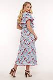 Платье на запах Сафина голубое, фото 3