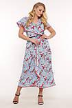 Платье на запах Сафина голубое, фото 4
