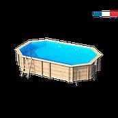 Бассейн сборный деревянный овальный Procopi Weva +640 (5,9 х 3,5 х 1,33 м)