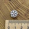 Серебряный шарм 11х8 мм вставка белые фианиты вес 2.8 г, фото 3