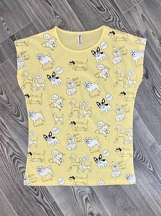 Женская футболка желтая, фото 2
