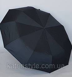 Зонт автоматический с большим куполом черного цвета (120 см)