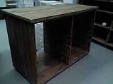 Торговое оборудование из дерева. Стеллажи, витрины, стойки деревянные, фото 5